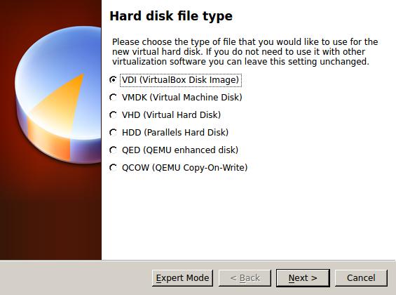 Тип диска: VDI